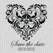 Royalty-Free Stock Imagem Vetorial: Lacy card with vintage floral heart
