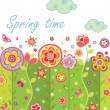 Seamless spring card — Stock Vector