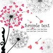 Valentine card with dandelion - Image vectorielle