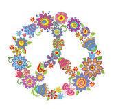 Peace flower symbol — Stock Vector