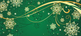 Christmas gold background — Stockvektor