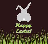Cartão de Páscoa com coelho — Vetor de Stock