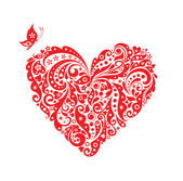 Red decorative heart — Stockvector