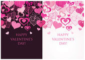 Valentine seamless banners — Stock Vector