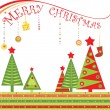 Royalty-Free Stock Vector Image: Greeting xmas card
