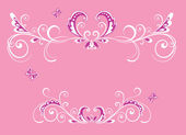 Красивый розовый кадр — Cтоковый вектор