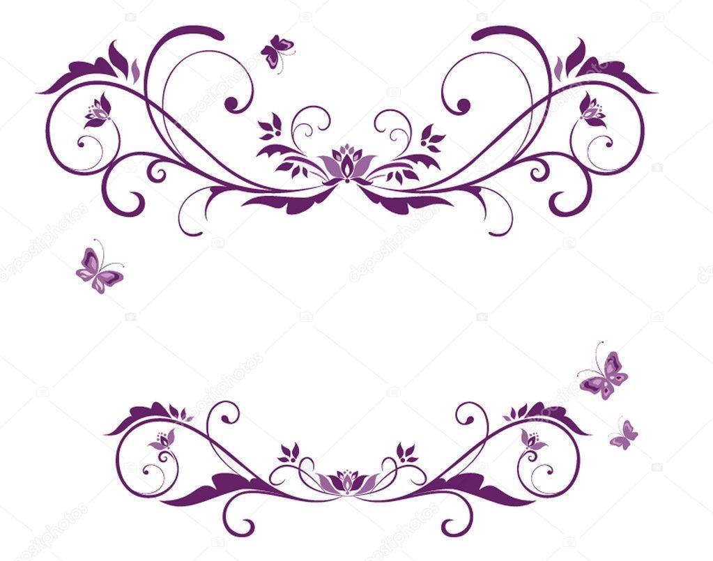 Hermoso marco violeta — Vector de stock #20013257