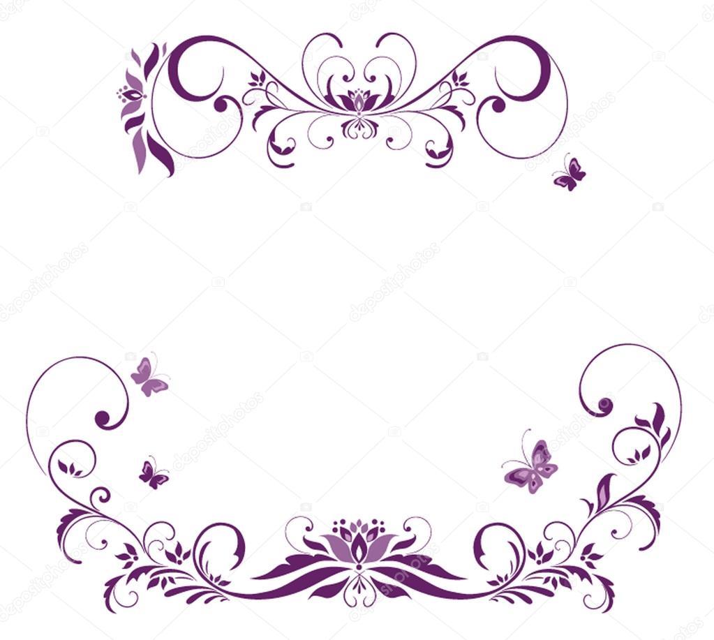 Free Vintage Flower Border Clip Art