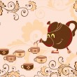 Tea-drinking - Imagen vectorial