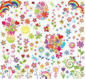 çiçekler seti — Stok Vektör