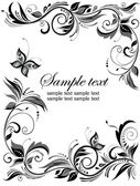 Wedding floral border — Stock Vector