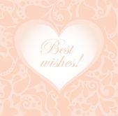Cute greeting pastel card — Stock Vector