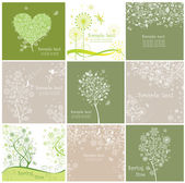 Vintage spring cards — Stock Vector