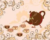 Tea-drinking — Stock Vector