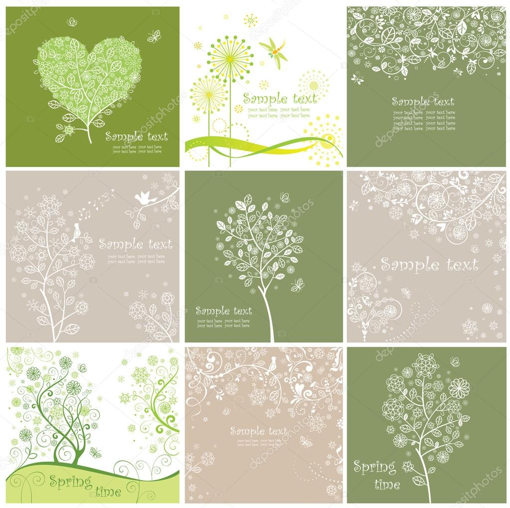 Vintage spring cards — Stock Vector #20033877