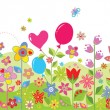 Spring colorful seamless card — Stockvectorbeeld