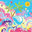 Summer holiday background — Stock Vector #20043107