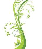 Beautiful green tree — Stock Vector