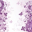 Greeting floral violet card — Stockvectorbeeld