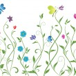 Seamless floral border — Stock Vector #20066117