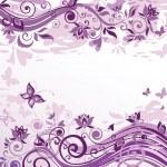 Vintage floral violet card — Stock Vector #20066137