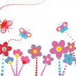 Abstract floral background - 