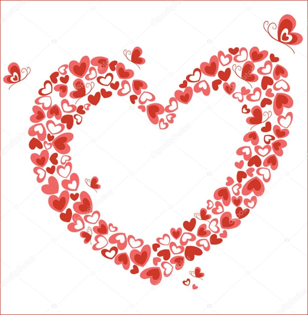 Heart with butterfly. See my gallery for more — Stock Vector #20085291