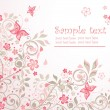 Beautiful floral card - Imagen vectorial