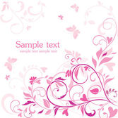 Beautiful floral pink card — Stock Vector
