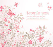 Beautiful floral card — Vettoriale Stock