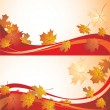 Stock Vector: Autumnal banners
