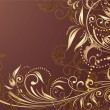Floral gold background - Imagen vectorial