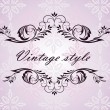 Stock Vector: Vintage header