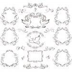 Vintage frames and design elements — Stock Vector