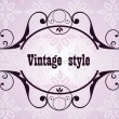 Stock Vector: Vintage retro heading