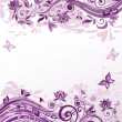 Stock Vector: Vintage violet floral background