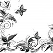 Stock Vector: Wedding background (black and white).