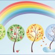 Four seasons — Vector de stock #20989729