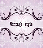Vintage retro heading — Stock Vector
