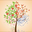 Seasonal tree — Vector de stock #20999003