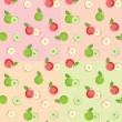 Seamless pattern with apples — Stock Vector