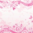 Pink floral banner — Stock Vector #21049017