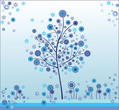 Winter tree — Stock Vector