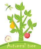 Autumnal tree — Stock Vector