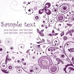 Violet floral postcard — Stock Vector #21050001