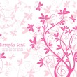 Beautiful floral pink card — Vector de stock