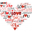 Love heart — Stock Vector
