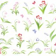 Set of floral elements — Stock Vector