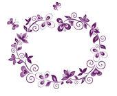 Decorative floral border — Stock Vector