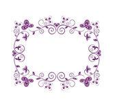 Floral violet decorative border — Stock Vector